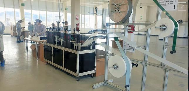 Techtex a pus în funcțiune linia automată de producție a măștilor chirurgicale