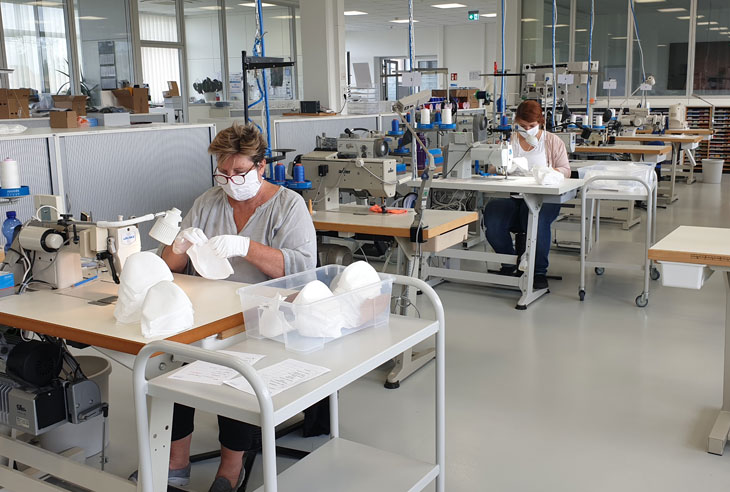 AMANN has started production of FFP2 masks