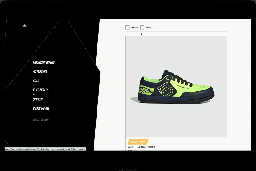 Adidas reduce returul produselor cu ajutorul unui instrument digital