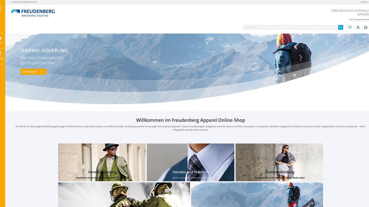 Freudenberg Performance Materials a lansat un shop online pentru industria de confecții